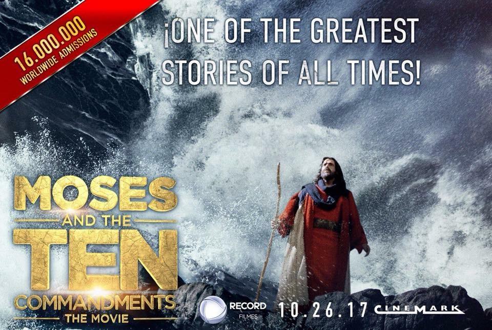 """Pronto en Cinemark: """"Moisés y los 10 Mandamientos """""""