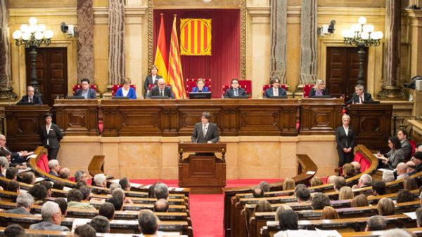 Parlamento regional declara la Independencia en Cataluña