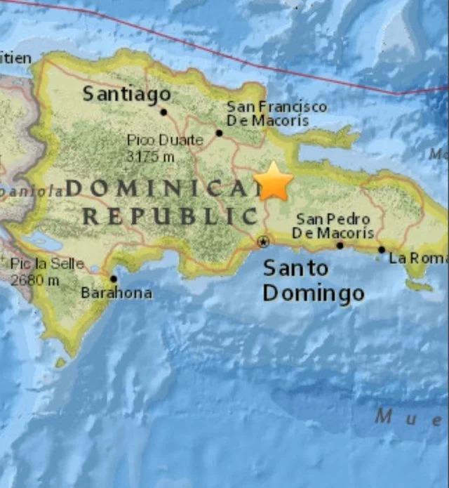 Sismo de 5 grados en República Dominicana