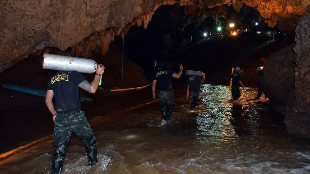 Continúan las labores de rescate en cueva Tailandesa