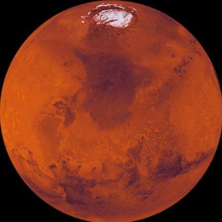 Investigadores italianos hallaron agua salada en Marte