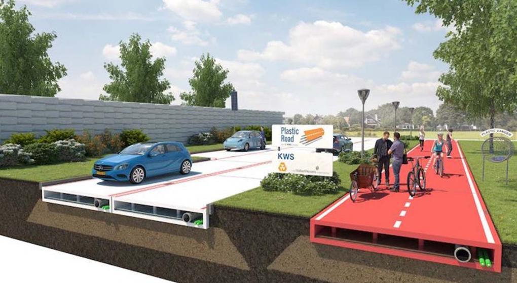 Holanda inicia proyecto para construir calles de plástico reciclado