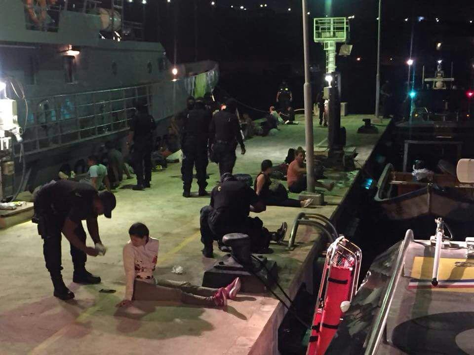 Guardia Costera interceptó lancha con 28 indocumentados