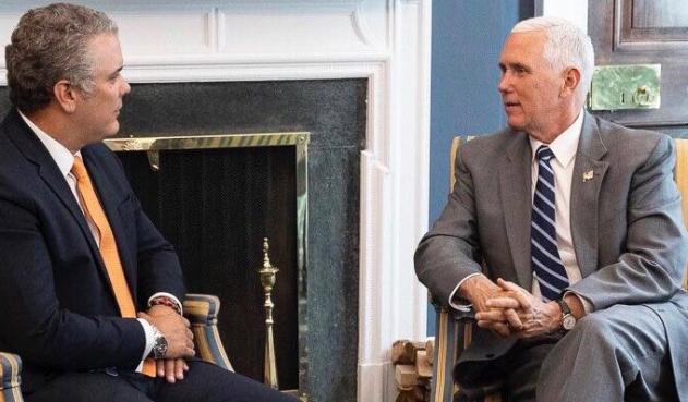 Pence y Duque acuerdan mantener presión al gobierno de Maduro