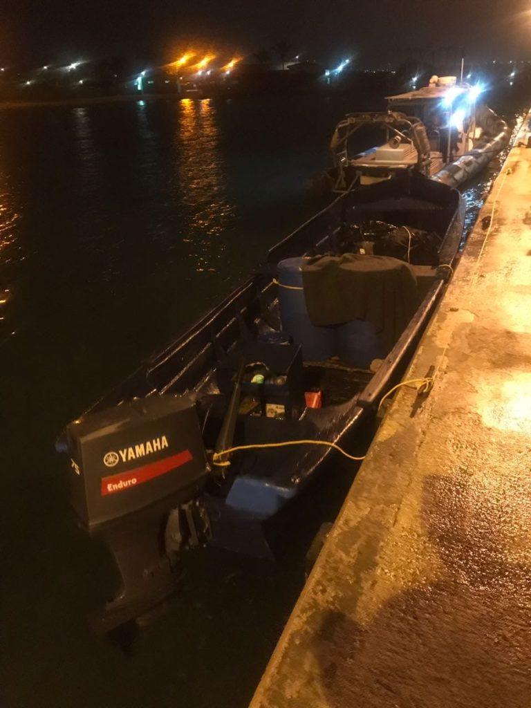 En aguas territoriales de Aruba interceptaron bote cargado de droga