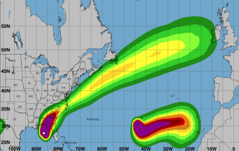 El huracán Michael alcanzó categoría 4 antes de llegar a Florida
