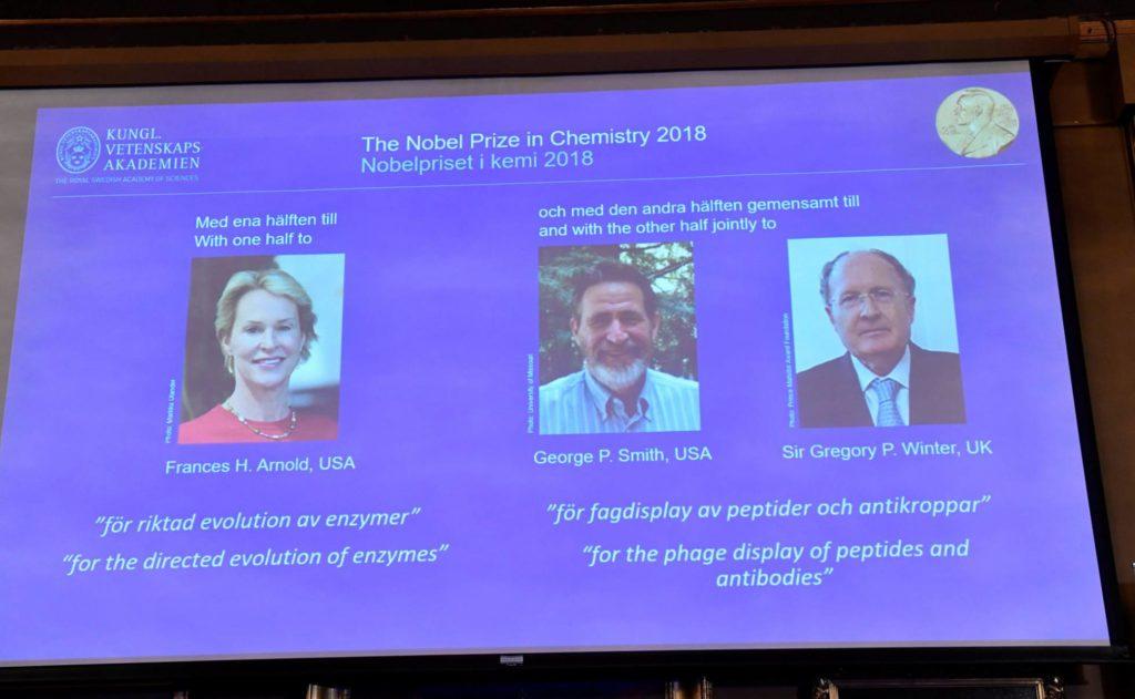 Premio Nobel de Química a los domadores del poder de la evolución
