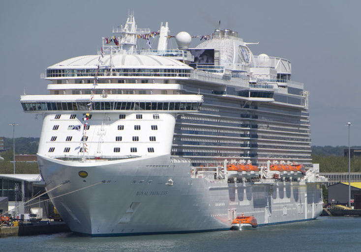 Investigan crimen pasional a bordo de Royal Princess