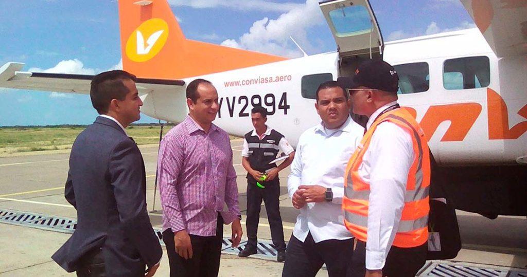 Conviasa inauguró ruta áerea Falcón-Aruba