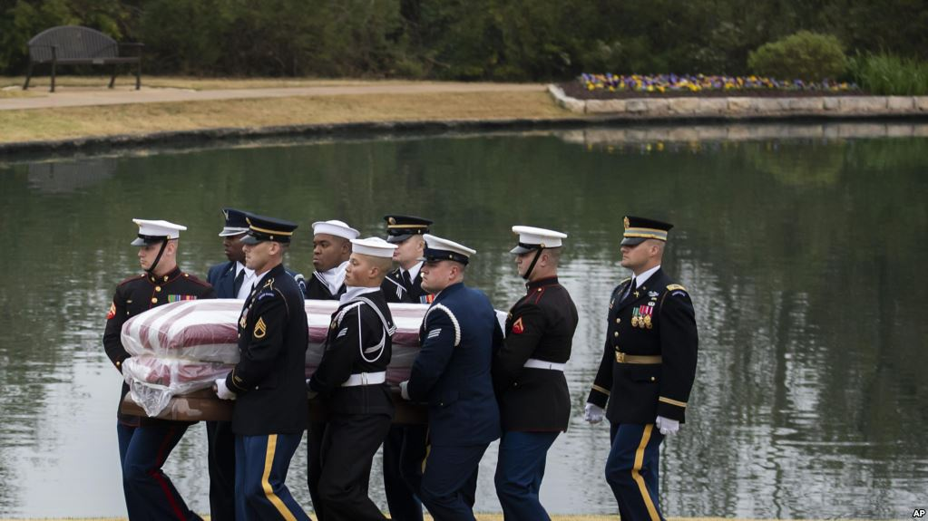 Último adiós al expresidente George H.W. Bush