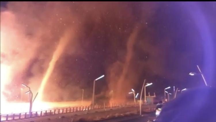 Tornados de fuego arrasaron varias casas en Holanda