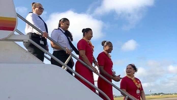 Surinam Airways inaugura vuelo con tripulación totalmente femenina
