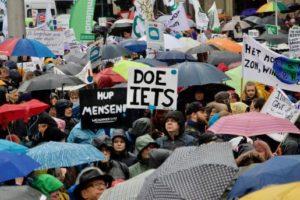 Manifiestaron en Holanda contra el cambio climático
