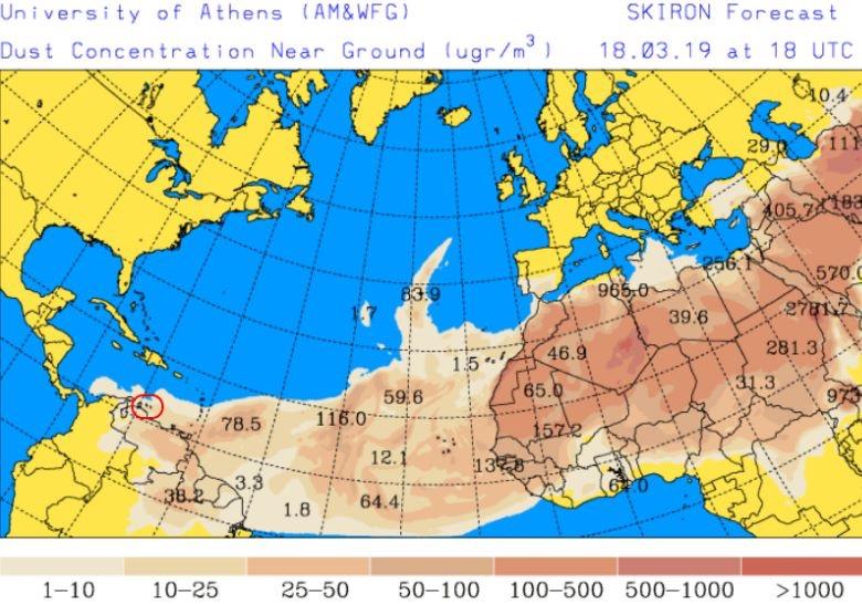 Islas ABC afectadas por polvos del Sahara