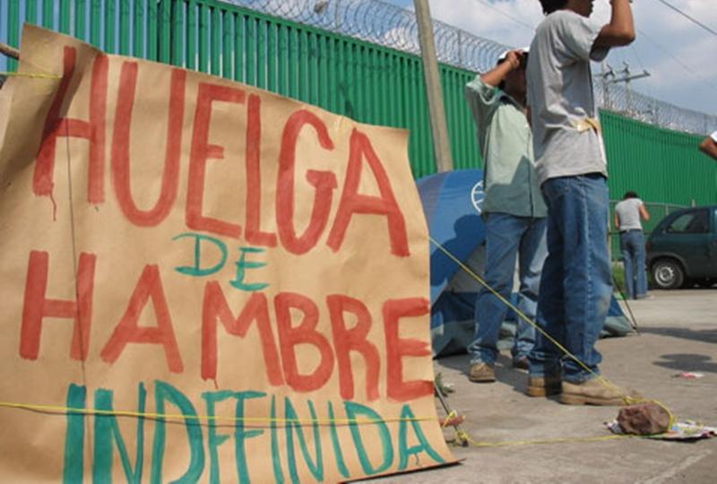 Migrantes venezolanos detenidos inician otra huelga de hambre «indefinida»