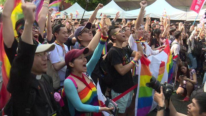 Taiwán es el primer país de Asia en aprobar el matrimonio igualitario