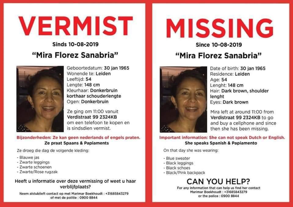 Reportan desaparición de arubeña en Holanda