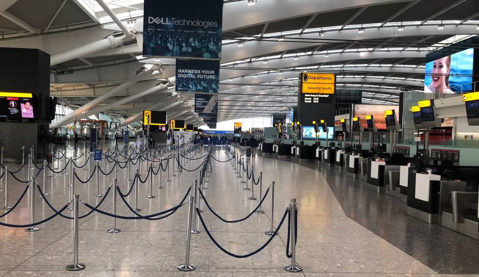 Huelga de pilotos deja aeropuerto Heathrow vacío