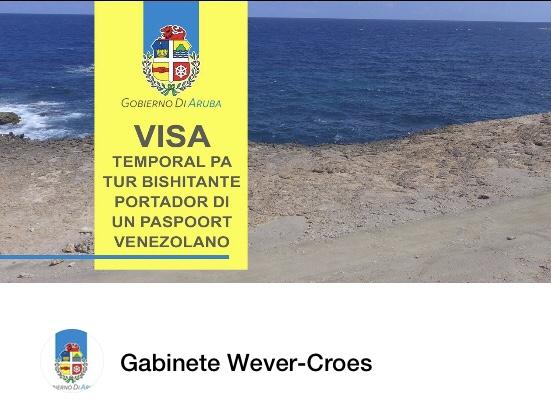 Exigirán visa a venezolanos que viajen a Aruba, Curazao o Bonaire