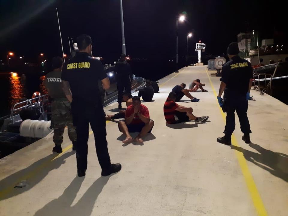 Arrestaron a siete personas cuando intentaban ingresar ilegalmente  a Curazao