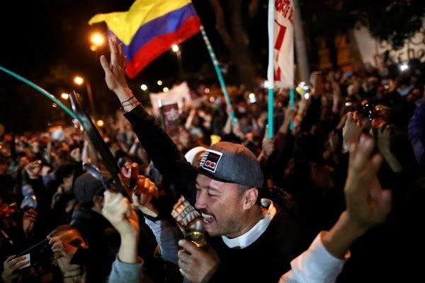 Cientos de personas colmaron las calles en Colombia en el undécimo día de protestas contra el gobierno de Iván Duque