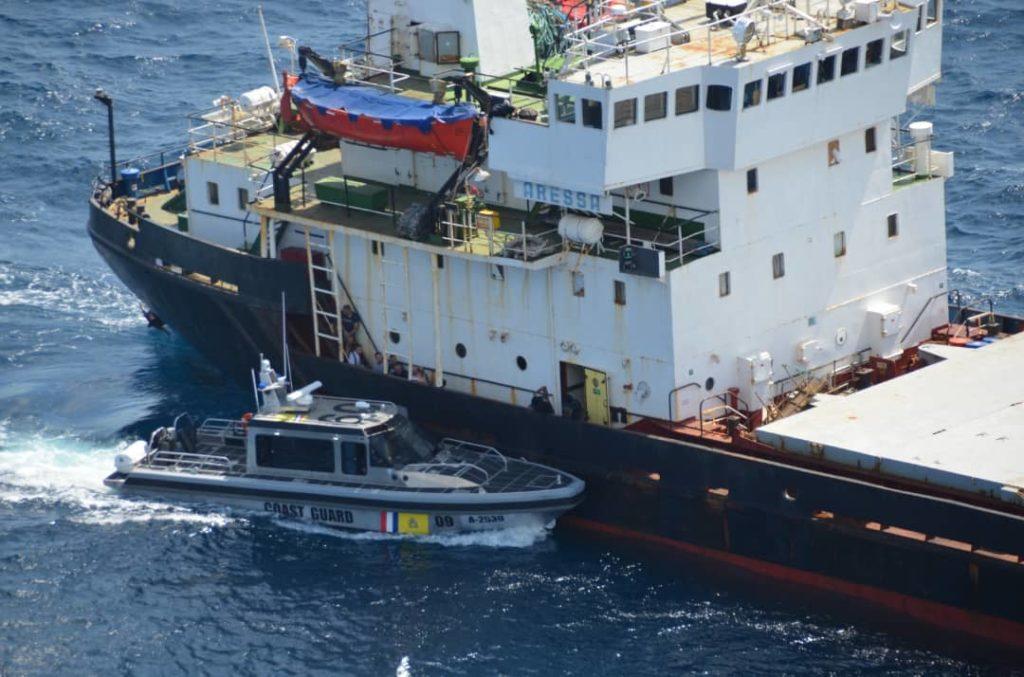 """Fueron """"casi 5.500 kilos"""" de droga  los decomisados en el buque Aressa"""